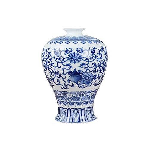 Lou Chapman Chinesische Blaue und weiße Keramik-Vase Antike Tabletop Porzellan Blumenvase Für Hotel Dining Room Dekoration, C