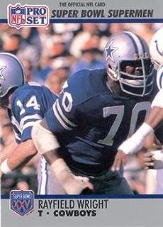 Rayfield Wright football card (Dallas Cowboys) 1990 Pro Set #61 Super Bowl Supermen