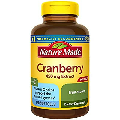 Nature Made Cranberry + Vitamin C Softgels, 120 Count Value Size from Nature Made