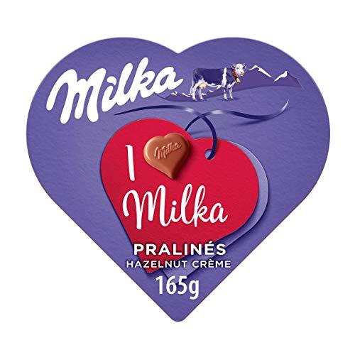 Milka - Bombones Cubiertos y Rellenos de Cremosa Mousse de Chocolate con Leche de los Alpes - Caja de 165 g