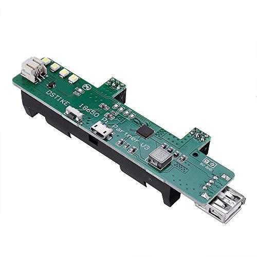 MUKUAI56 DSTIKE 18650 Pi Partner V3 Power Supply Board 1A/5V Input 3A/5V Output Powerbank for 18650 and 3.7V Lithium Battery DIY