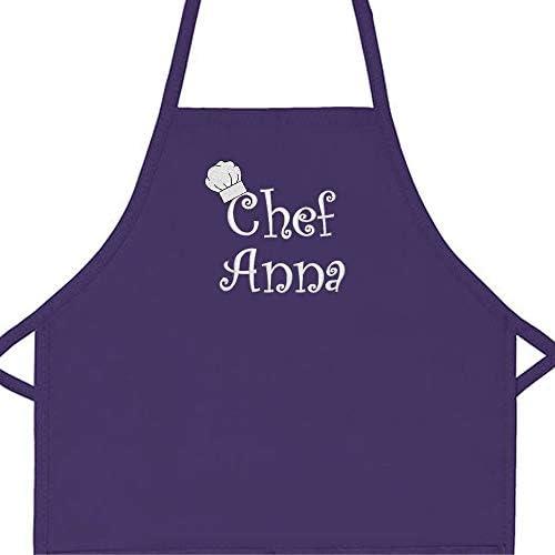 Personalized Child Apron Little Girl Pink Apron Custom Cooking Apron Customized Kids Baking Accessory Iron On Name Kitchen Apron