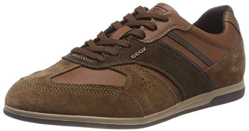 Geox Herren U Renan A Sneaker, Braun (Browncotto/Dk Coffee C6g6t), 46 EU