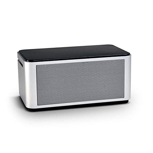 Orei Diamond Bocina inalámbrico de tecnología NFC y Bluetooth 4.0 con rendimiento de bajos mejorado, poderoso sonido, micrófono incorporado, carcasa de aluminio, panel de control táctil y tamaño compacto