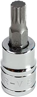 Capri Tools 30034 8mm XZN Triple Square Bit Socket with 3/8-Inch Drive