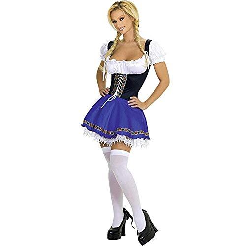 Kostüime für Erwachsene Cosplay Mädchen-Kostüm-Mädchen-Kostüm-Spiel-Uniform Wiesn Kostüm-Halloween-Mädchen-Kleid-Dame Luxus Kostüm YHDD (Size : XXXL)