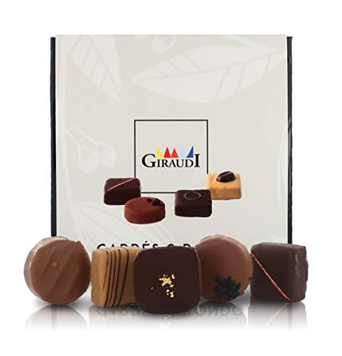 Scatola di cioccolatini Artigianali Misti Carrés & Rondò, 16 pz, 160 Grammi