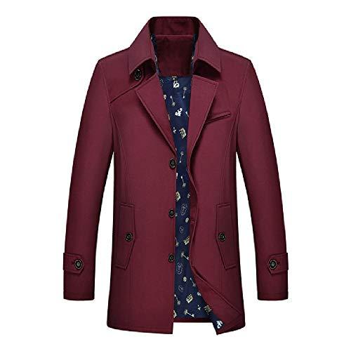 Gabardina para hombre chaqueta de otoño abrigo largo para hombre Slim Fit ropa rompevientos masculino