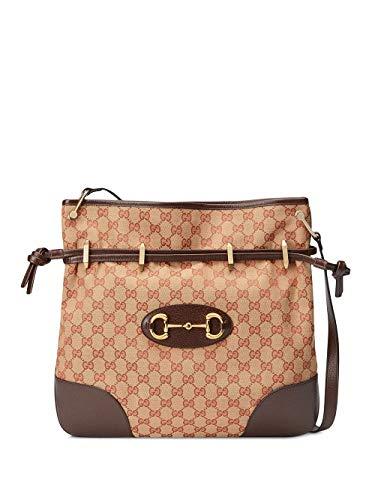 Gucci Moda De Lujo Mujer 6020899Y9NG9888 Marrón Poliéster Bolso De Hombro | Temporada Permanente