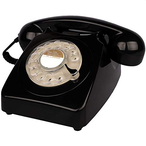 SGSG Teléfono Retro, teléfono Retro, teléfono Giratorio clásico clásico, teléfono Giratorio con Cable Antiguo, Oficina en casa, Hotel, línea Fija Fija