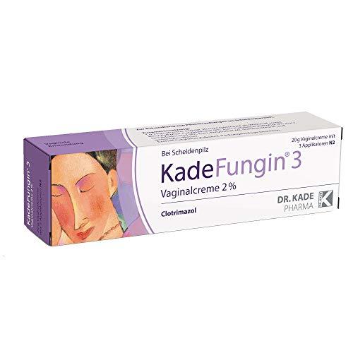 KadeFungin 3, Vaginalcreme gegen Scheidenpilz - mit 3 Applikatoren, ideal auch zur Partnerbehandlung, 20g