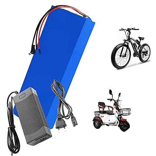 HJGHY Batería de Iones de Litio 72V 20Ah 30Ah 40Ah 50Ah Batería de Bicicleta Eléctrica con BMS y Cargador de 5A para Motocicleta Eléctrica Scooter de 2000W Otra Batería de Respaldo,30ah