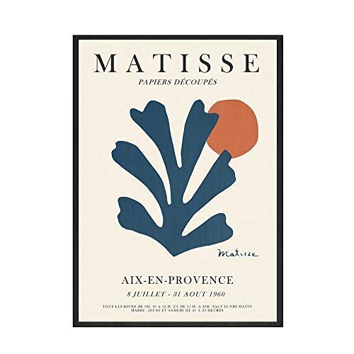 Póster de Henri Matisse, pintura artística, línea abstracta, cuadro artístico de pared en la sala de estar, pintura decorativa sin marco, lienzo A 70x100cm