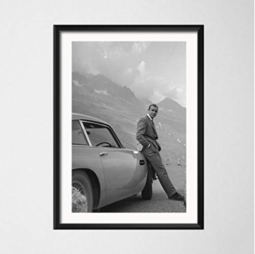 nobrand Sean Connery Classico Attore Stella del Cinema Arte Pittura Tela di Seta Poster da Parete Complementi Arredo Casa 50 * 70 Cm Senza Cornice