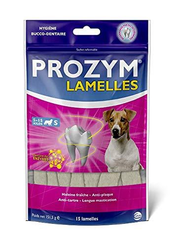 Prozym 15 Lamelles pour Chiens - Soin Dentaire à mâcher - N°1 chez Les vétérinaires - Haleine fraîche - Anti-tartre - Anti-Plaque - Gencives saines (S)