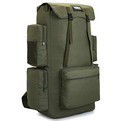 YTBUBOR Men Hiking Camping Backpack Outdoor Climbing Trekking Tactical Bags (Color : Army Green 130L)