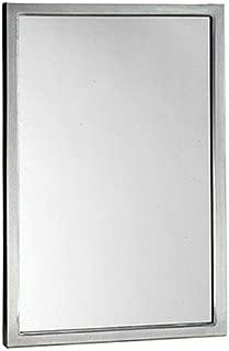 Bobrick 290 Series 304 Stainless Steel Welded Frame Glass Mirror, Satin Finish, 18