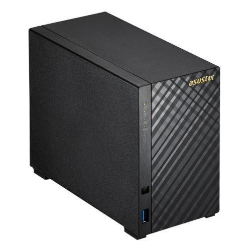 Asustor AS1002T 2-Bay NAS System (Marvell ARMADA-385, 512MB RAM, Gigabit-LAN, USB 3.0, Hardwareverschlüsselung, Raid 0, 1, JBOD) schwarz