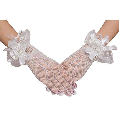Gants de dentelle courte Gants de mariée mariage Gants de noeud dentelle noeud