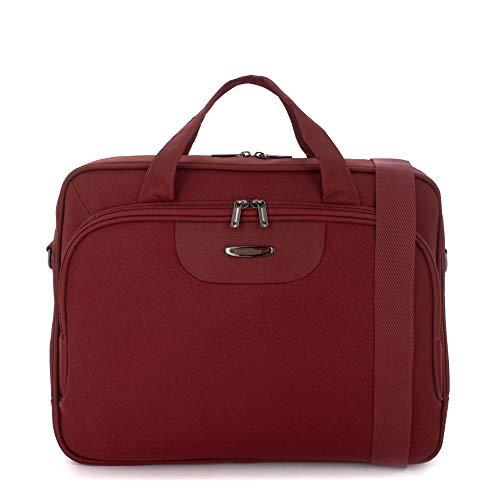 RONCATO Easy Office, Cartella 2 Manici Porta Pc 15.6'' Unisex – Adulto, Rosso Scuro, One Size