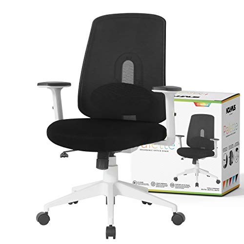 NOUHAUS Palette Ergonomic Office Chair Comfortable Swivel Computer Desk Chair, Lumbar Adjust Rolling Chair. (Black)