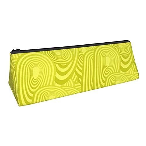 Estuche de lápices de triángulo elíptico con cremallera Oxford tela multifuncional bolsa de almacenamiento bolsa cosmética
