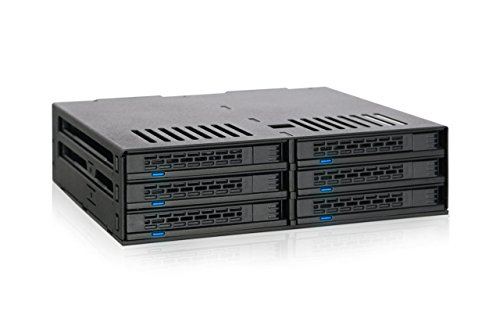 ICY DOCK 6 x 2.5 SATA HDD/SSD Hot Swap Mobile Rack/Cage in 1 x 5.25 Drive Bay Comparable to Tray-Less Design - ExpressCage MB326SP-B