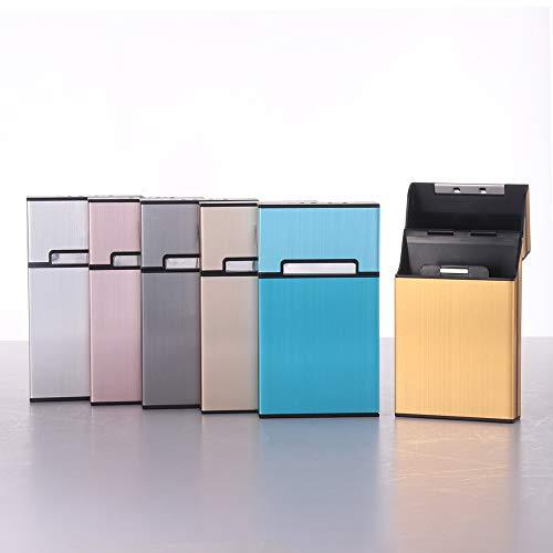 Laiashley - Caja de cigarrillos con tapa cepillada,...