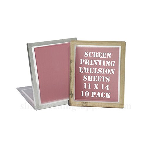 (Ship from USA) Yudu Style Emulsion Sheets - 10 Pack 11x14