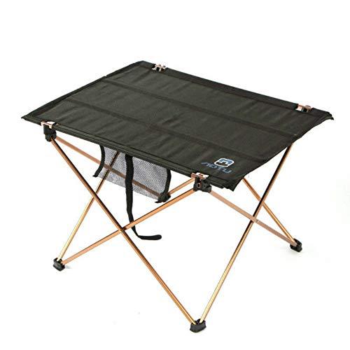 Heqianqian Mesa plegable al aire libre Mesa de picnic plegable de aleación de aluminio camping senderismo para camping fiesta picnic – pequeño escritorio plegable ligero portátil resistente