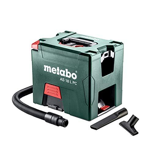 Metabo 602021850 - Aspirapolvere a batteria AS 18 L PC (602021850) con pulizia manuale del filtro in cartone