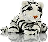 Sootheze Weighted Microwavable White Tiger Lap Pad Therapy Stuffed Animal Heating Pad