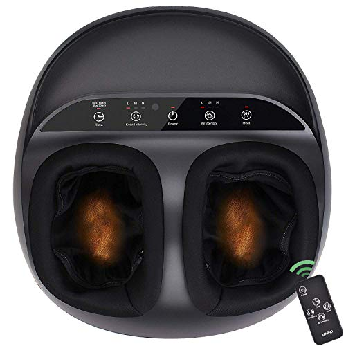 RENPHO Foot Massager Machine with Heat and Remote, Shiatsu Deep Kneading,...