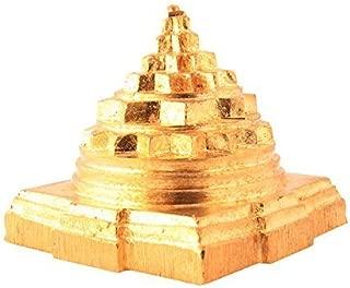 Petrichor Solid Sumeru Shree Yantra for Pooja Home, Gold Color