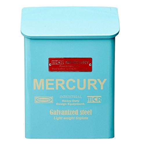 MERCURY マーキュリー Porch Mail Box ポーチ メールボックス 郵便ポスト ブリキ製 BLUE ブルー