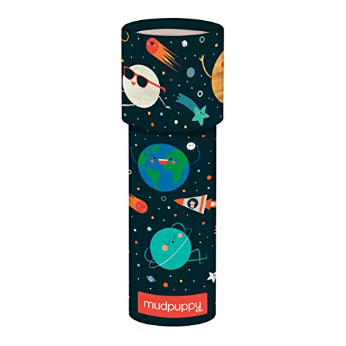 """Mudpuppy Solar System Kaleidoscope – 6.5"""" Tall with 2.25"""" Diameter – Colorful Kaleidoscope for Kids with Colorful Artwork, Ideal for Ages 3-8 – Kids Toy Made of Matte-Finish Board Material"""