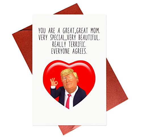 Funny Mothers Day Card,Trump Humor Mother's Day Greeting Cards,Gifts for Mom