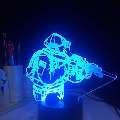 Lampada da tavolo, novità, acrilico, figura militare, forma, luce notturna, colore decorativo, illuminazione interna per il sonno dei bambini, regalo decorativo