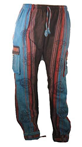 Terrapin Trading Herren Hose mehrfarbig mehrfarbig Gr. Large, blau/grau