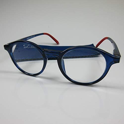 LINDAUER Klassische große Lesebrille +1,5 blau Fertigbrille Lesehilfe Flexbügel