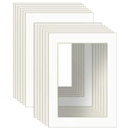 UMI. Essentials 12er Set Passepartout Weiß für Bilder im Format 10x15cm