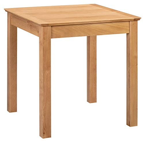 Hallowood Hereford Oak Small Square Dining Table | Solid Wooden Kitchen Dinner | Top 75cm x 75cm, HRE-TAB750