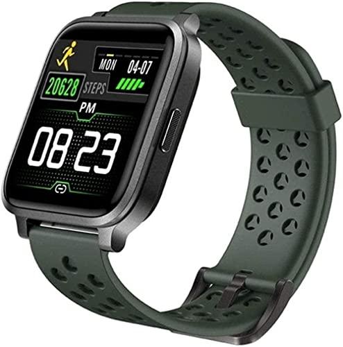 RCH Smart Watch 1 3 Color Inglés Color IP68 Buceo Deportes Fitness Pulsera Inteligente Monitoreo del Sueño (Color: Rosa) (Verde)