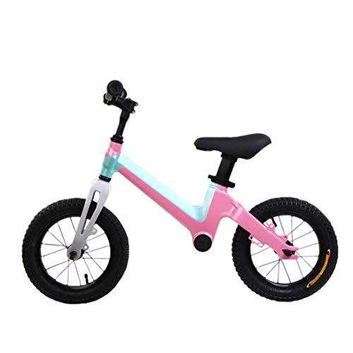YWSZJ Bicicleta de Equilibrio Ligera para niños pequeños y niños de 2 a 6 años, Triciclo de Entrenamiento sin Pedales con Asiento Ajustable y Barra de Mano Antideslizante (Color : C)
