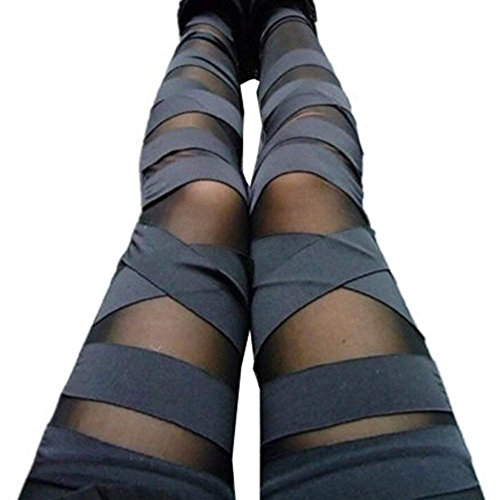 Leggins Für Damen Elegante Mode Stoffhosen Frühling Sommer Unifarben Bandage Gothic Slim Fit Classic Unikat High Waist Hose Pants Bequeme Lang Trousers Young Fashion Moderner Stil Frauen