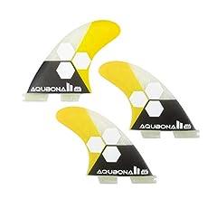 Small, Medium, Large Sets. AQUBONA FCS II AM FINS Surfboard Fiberglass Fins for Surfing with Fin Bag Screws and Fin Key