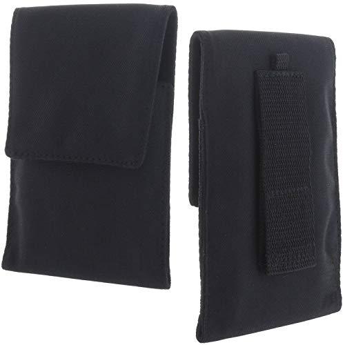 XiRRiX Handy Hülle - Etui Tasche XL kompatibel mit Samsung Galaxy Xcover 4 4s A20e A40 / A3 A5 J3 J5 2017 / S9 S10e / Apple iPhone SE 2020 / iPhone 12 / iPhone 12 Pro - Gürteltasche schwarz