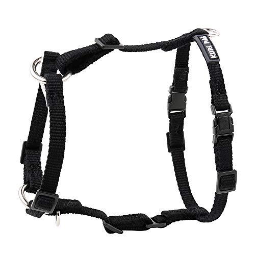 KURI PAI® Hundegeschirr, schwarz, Größe XS, H-Geschirr für kleine Hunde, Umweltfreundlich aus Bambus