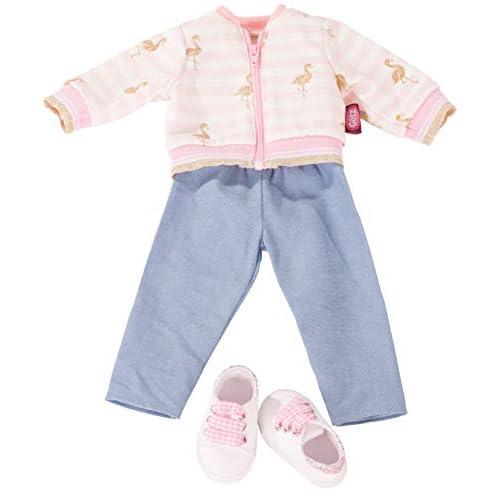 Götz 3403035 Completo Golden Flamingo - Abbigliamento per bambola misura XL - set 4 pezzi di vestiti e accessori per bambole in piedi alte 45-50 cm