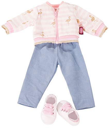 Götz 3403035 Kombination Golden Flamingo - Puppenbekleidung Gr. XL - 4-teiliges Bekleidungs- und Zubehörset für Stehpuppen 45 - 50 cm